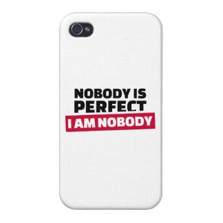 Nadie es perfecto yo no es nadie iPhone 4 cárcasa