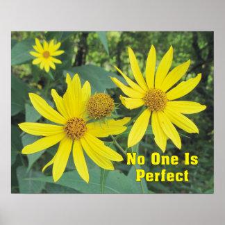 Nadie es poster amarillo perfecto de los
