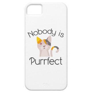 Nadie es Purrfect iPhone 5 Carcasa