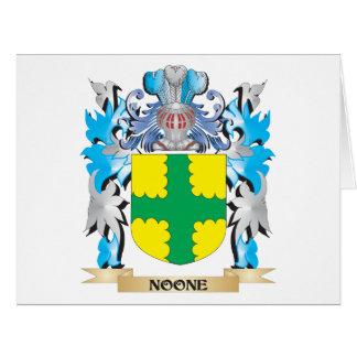 Nadie escudo de armas - escudo de la familia tarjeta de felicitación grande