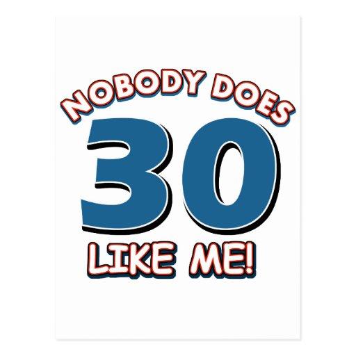 ¡Nadie hace 30 como mí! Postales