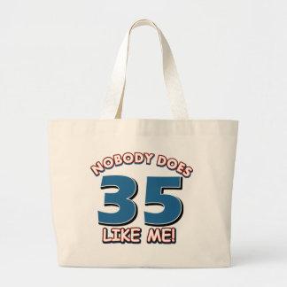 ¡Nadie hace 35 como mí! Bolsa Tela Grande