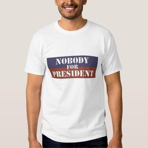 Nadie para el camisetas del presidente (estilo 3) poleras