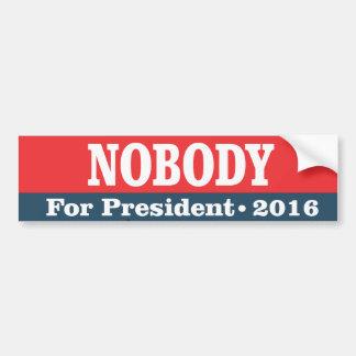 Nadie para el presidente pegatina para auto