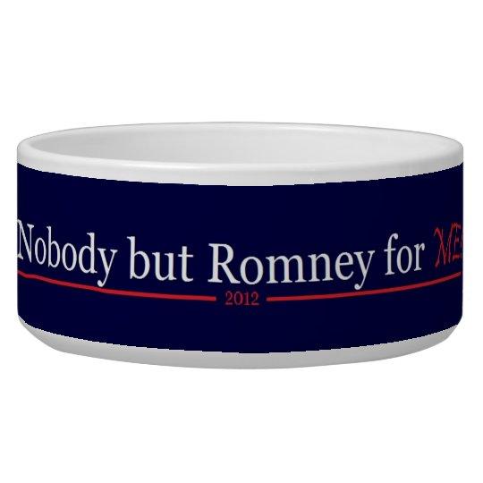 ¡Nadie pero Romney para mí!! Comedero Para Mascota