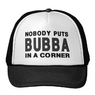Nadie pone BUBBA en una esquina Gorras