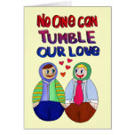 Nadie puede caer nuestro amor tarjeta pequeña