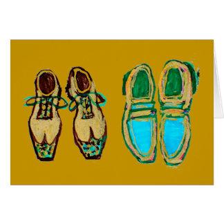 Nadie puede llenar nunca sus zapatos, tarjeta de f