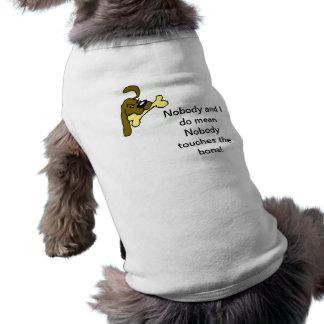 nadie camiseta de perrito