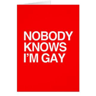 NADIE SABE que soy - BLANCO - png GAY Tarjeton