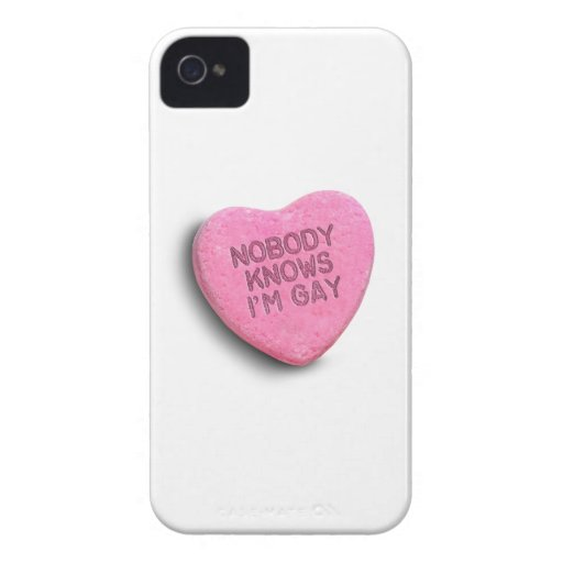 NADIE SABE que soy CARAMELO GAY Case-Mate iPhone 4 Funda