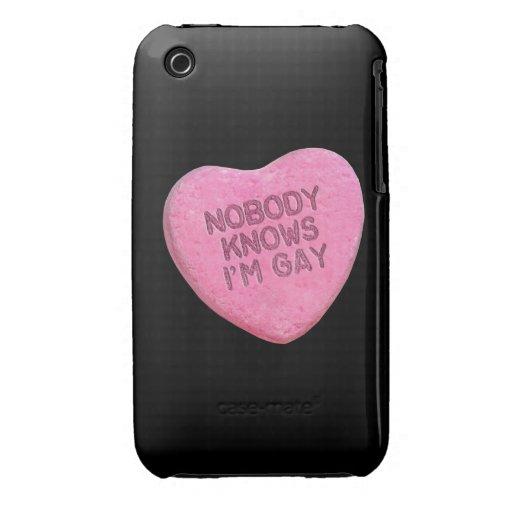 NADIE SABE que soy el CARAMELO GAY - .png iPhone 3 Case-Mate Cárcasa