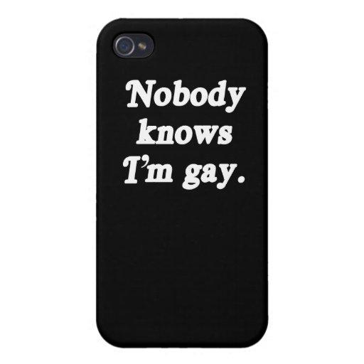 Nadie sabe que soy gay - (la línea de la recogida) iPhone 4 cárcasas