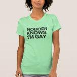 NADIE SABE que soy GAY - .png Camiseta
