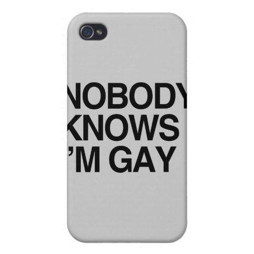 NADIE SABE que soy GAY - .png iPhone 4 Cárcasas