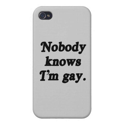 Nadie sabe que soy gay - .png iPhone 4/4S funda