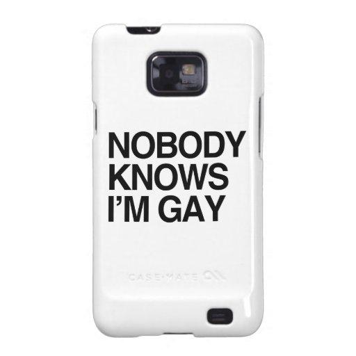 NADIE SABE que soy GAY - .png Galaxy S2 Funda