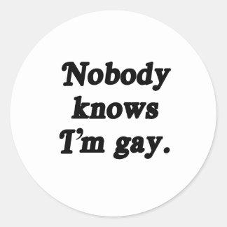 Nadie sabe que soy gay - png pegatinas
