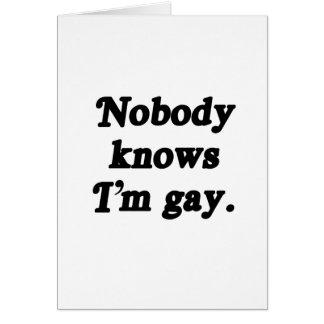 Nadie sabe que soy gay tarjetas