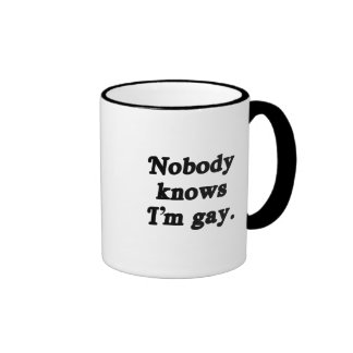 Nadie sabe que soy gay tazas