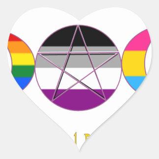 Nadie sabe que soy Pagan Pansexual gay de Pegatina En Forma De Corazón