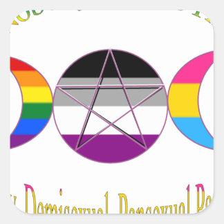 Nadie sabe que soy Pagan Pansexual gay de Pegatina Cuadrada