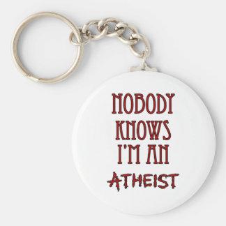 Nadie sabe que soy un ateo llavero redondo tipo pin