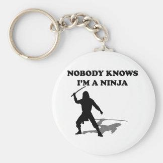 Nadie sabe que soy un Ninja Llavero Redondo Tipo Pin