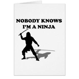 Nadie sabe que soy un Ninja Tarjeta De Felicitación