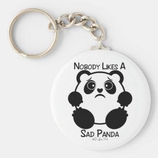 Nadie tiene gusto de una panda triste llavero redondo tipo pin