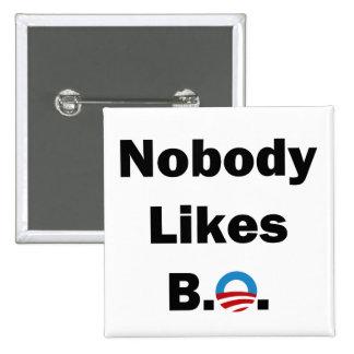 Nadie tiene gusto del botón de BO Pin Cuadrado