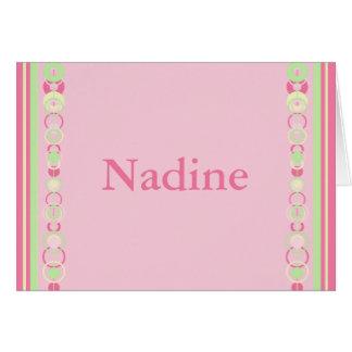 Nadine Modern Circles Custom Name Card