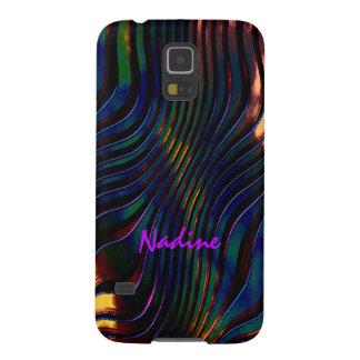 Nadine rayó la caja a todo color de la galaxia S5 Funda Para Galaxy S5
