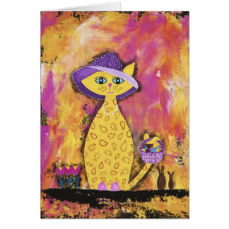 Nadine, the Paisley Easter Lady Card