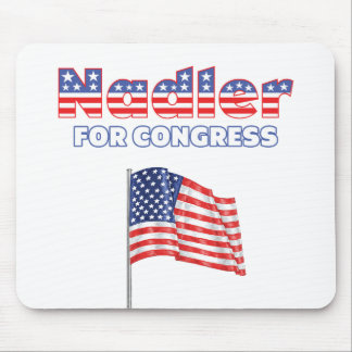 Nadler for Congress Patriotic American Flag Mouse Pad