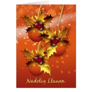 Nadolig Llawen, Galés para las felices Navidad, Tarjeta De Felicitación