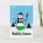 Nadolig Llawen Merry Christmas Wales Snowman