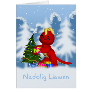 Nadolig LLawen - tarjeta de Navidad de la lengua G