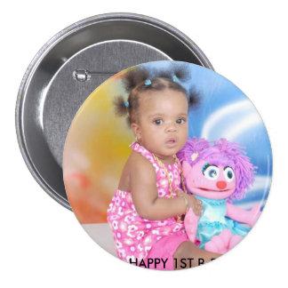 NAELANI'S 1ST BIRTHDAY! 3 INCH ROUND BUTTON