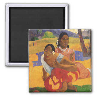 """Nafea Faa Ipoipo"" - Paul Gauguin Imán Cuadrado"