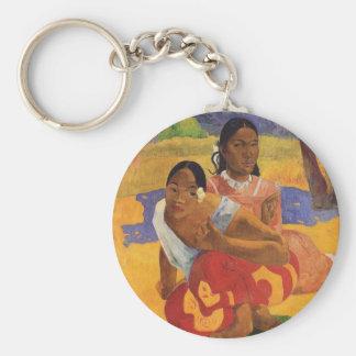 """""""Nafea Faa Ipoipo"""" - Paul Gauguin Llavero Redondo Tipo Pin"""