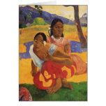 """Nafea Faa Ipoipo"" - Paul Gauguin Tarjeta Pequeña"