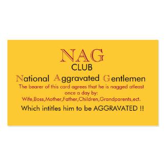 Nag Club Card Business Card Templates