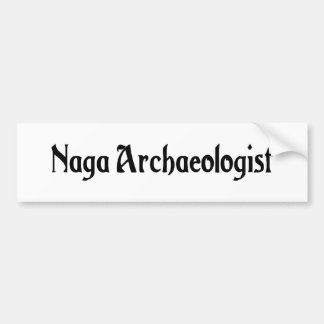 Naga Archaeologist Bumper Sticker Car Bumper Sticker