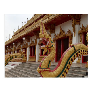 Naga at 9 Storey Stupa, Khon Kaen Postcard