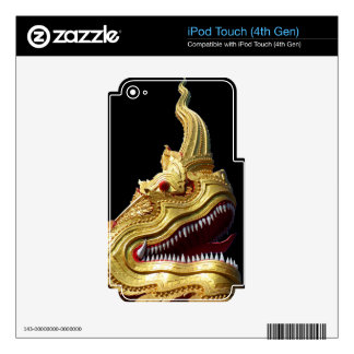 Naga Head on Black iPod Touch 4G Decal