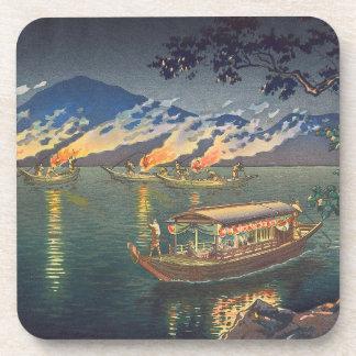 Nagaragawa Cormorant Fishing  Tsuchiya Koitsu Drink Coasters