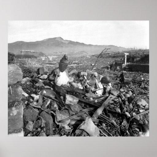 Nagasaki Japan After the Atomic Bomb Print