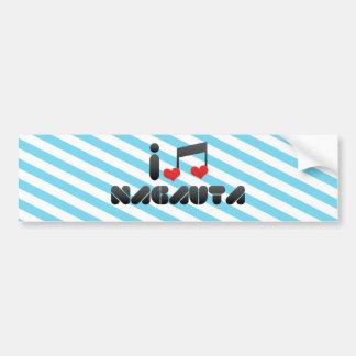 Nagauta fan car bumper sticker