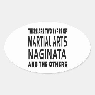 Naginata Martial Arts Designs Oval Stickers